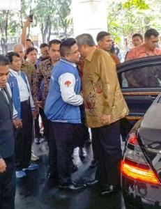 Jacko dan SBY terlihat sedang cipika cipiki