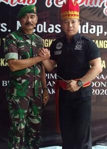 Panglima Brigade Manguni Indonesia (BMI) ADV.E. Tindangen, SH,MH, bersama Korem Santiago 131 Sulut.