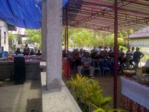 Masyarakat Pulau Bunaken yang hadir dalam kunjungan Ketua DPRD Sulut Andrei Angouw