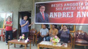 Ketua DPRD Sulut saat melakukan kegiatan reses I di Pulau Bunaken