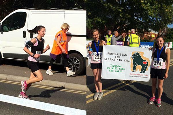 2 Gadis Inggris Marathon Demi  Yaki