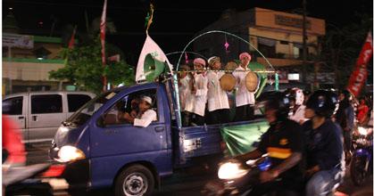 malam takbiran di Manado