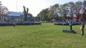 Pejabat Walikota Walikota Ir Roy O Roring MSi Pimpin Apel Peringati  Hari Otonomi Daerah yang Ke XX Di Lapangan Sparta Tikala Senin 25/04/16