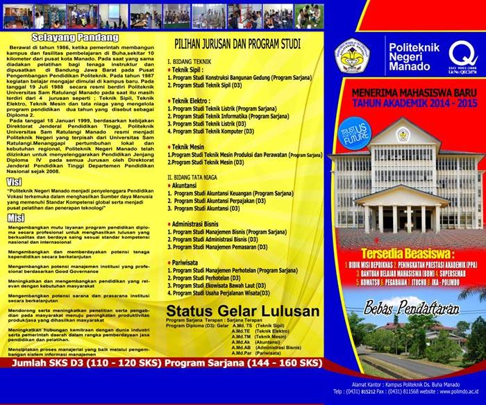 Brosur Pendaftaran Mahasiswa Baru Politeknik Negeri Manado