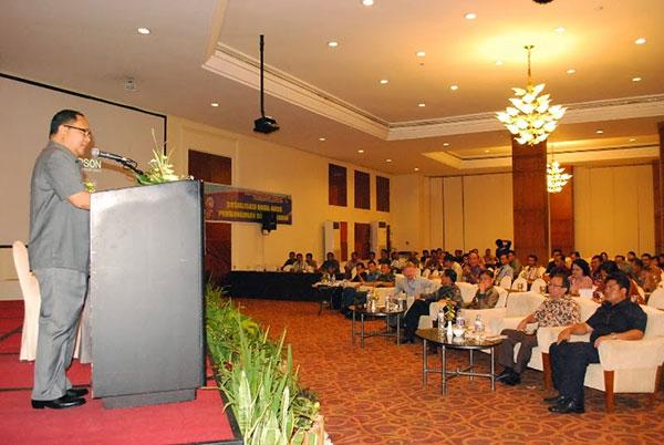 Djouhari Kansil saat memberikan sambutan di Konsultasi Kewirausahaan Komisi PKB KGPM se- Indonesia