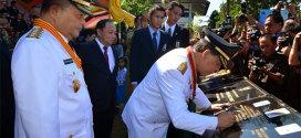 Dr. Sinyo Harry Sarundajang Meresmikan Berbagai Proyek di HUT Emas Sulawesi Utara