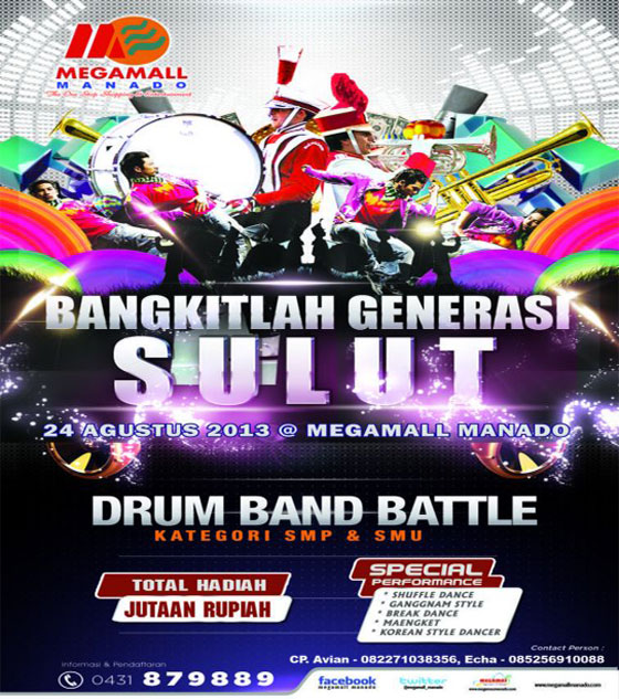 Drum Band Battle di Megamall Manado