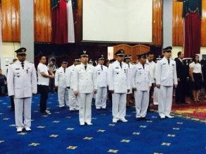 Pelantikan dan Pengambilan Sumpah Janji 28 Pejabat Eselon III dan 52 Pejabat Eselon IV Jumat (11/3/16) Di Ruang Serbaguna Kantor Walikota