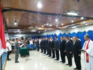 Sekda Kota Manado Haefrey Sendoh Melantik 14 Pejabat Eselon II & III di Lingkungan Pemerintah Kota Manado.Rabu (06/04/16) - Bertempat di Ruang Toar Lumimuut