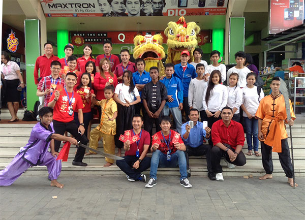 Foto Bersama Wushu dan Barongsai di depan itCenter