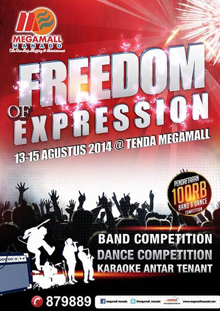 Freedom of Expression di Megamall Manado