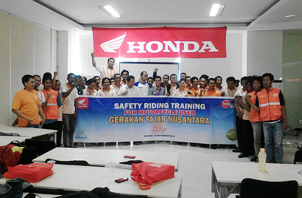 Gafatar Adakan Safety Riding Training Dengan Honda