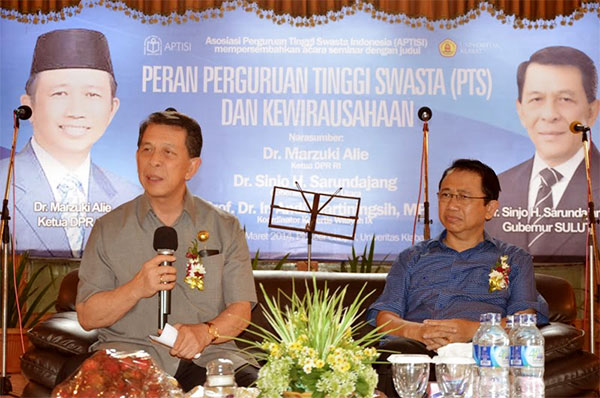 Gubernur Sulawesi Utara dan Ketua DPR RI