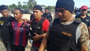 Salah satu tersangka bentrok basaan yang di tangkap polisi