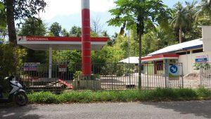 SPBU baru di jalan trans Melonguane - Mala, Talaud yang sampai saat ini tidak beroperasi