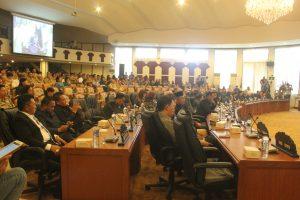 Para Anggota DPRD Sulut serius mengikuti Rapat Paripurna Istimewa.