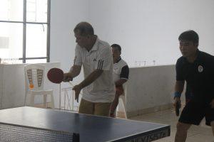 Sekwan Provinsi Sulut, Bartholomeus sedang bertanding di cabang Tennis meja.