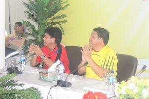 Sekwan Minahasa selatan Lucky Tampi SH dan Ketua Panitia Joins E.Langkun, SH.