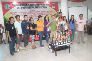 Acara Forkom Sekretariat DPRD Se-Sulut, Deprov Sulut Juara Umum.