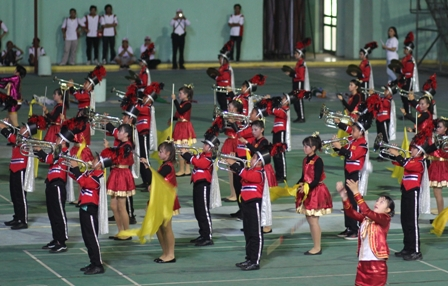 Salah satu unit marching band yang mengikuti lomba beberapa waktu lalu