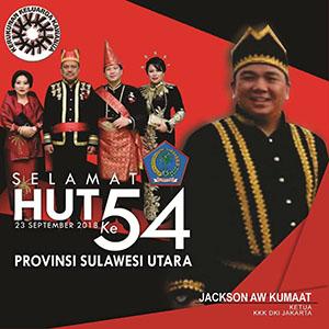 Banner Jackson Kumaat Hut Prov Sulut ke 54