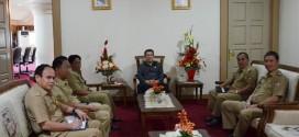 Jantje Sajouw dan Ivan Sarundajang Bertandang ke Kantor Gubernur Sulut