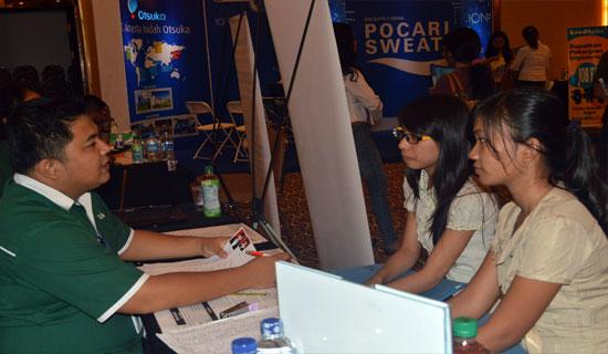 Foto: Suasana wawancara langsung di Manado Career Expo - CP/seputarsulut.com