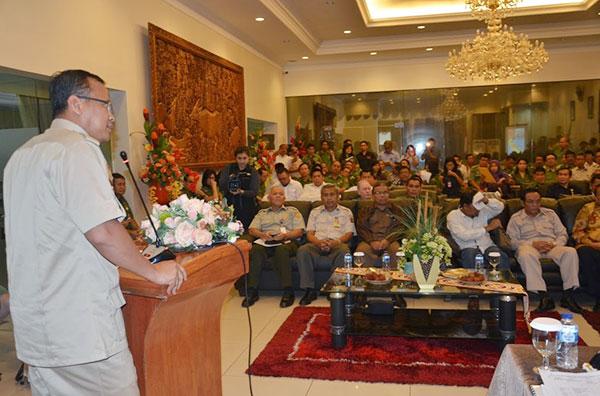 Ketua Komisi IV Edhy Prabowo Saat Berkunjung ke Sulawesi Utara