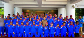 Wakil Gubernur Sulut Melepas Kontingen Provinsi Sulawesi Utara yang mengikuti Pekan Olahraga Nasional (PON) Remaja