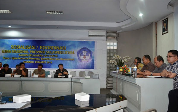 Rapat Koordinasi Ujian Nasional Provinsi Sulawesi Utara | Foto: Humas Prov Sulut