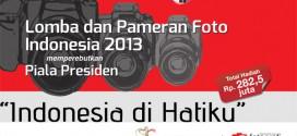 Lomba dan Pameran Foto Indonesia 2013