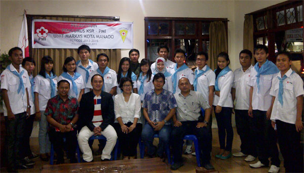 PMI Gelar Pelantikan Pengurus KSR Unit Markas PMI Manado