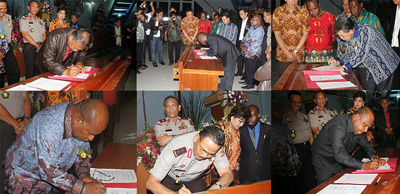 Penandatangan Perjanjian Damai Antara Mahasiswa Papua dan Masyarakat Tataaran Tondano
