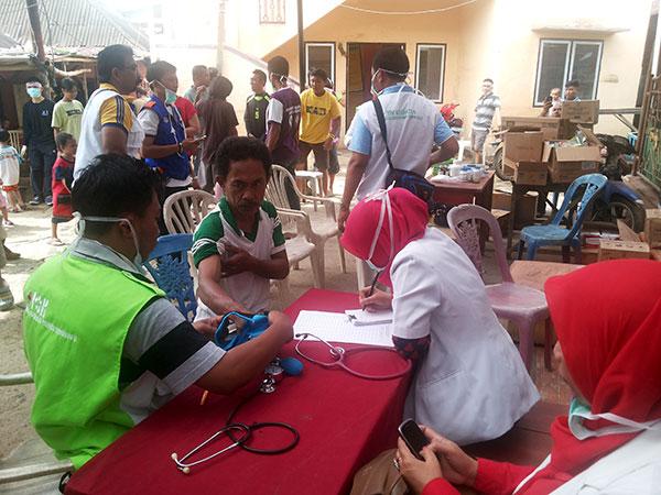 Pengobatan gratis saat gerakan Manado bangkit