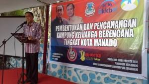 Penjabat Walikota Manado Ir Roy O Roring Hadiri Pembentukan dan Pencanangan Kampung Keluarga Berencana Tingkat Kota Manado di Kelurahan Ketang Baru Lingkungan 3