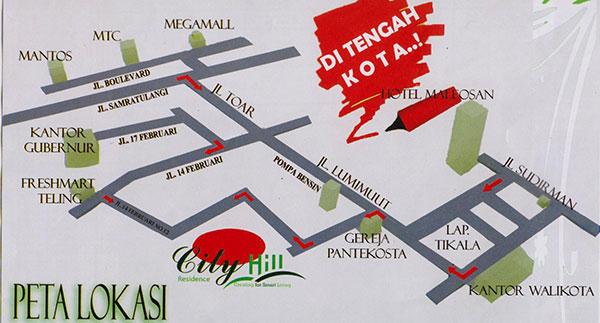 Peta Lokasi City Hill Residence