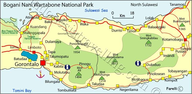 Peta Taman Nasional Bogani Nani Wartabone