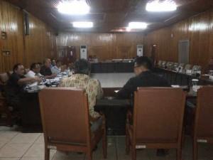 Suasana Hearing Komisi III DPRD Sulut