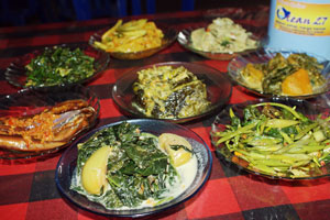 Sayur-sayuran Khas Rumah Makan Ocean 27 Manado