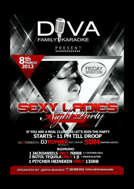 Sexy Ladies Night Party di Diva Karaoke Manado