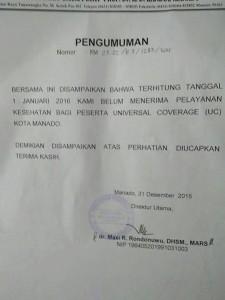 UC surat pengumuman