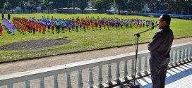 Wagub Sulut Dr. Djouhari Kansil MPd, membuka Pekan Olahraga Pendidikan dan Kejuaraan Antar Satuan Pendidikan