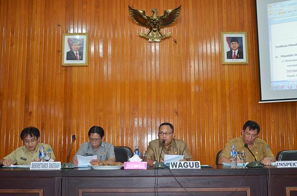 Wagub saat memimpin pertemuan hasil pemeriksaan pendahuluan BPK | Foto: Humas Prov Sulut
