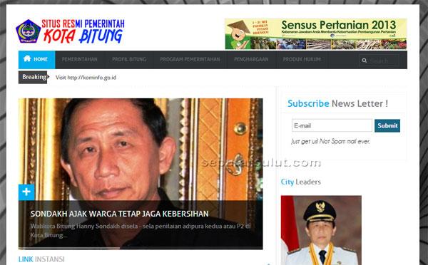 Website Pemkot Bitung