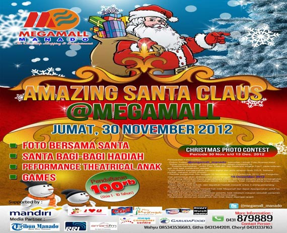 amazing santa claus at mega mall Amazing Santa Claus at Megamall Manado