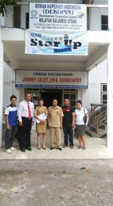 Perwakilan KPPT bersama Pengurus KSU Star up Sulut