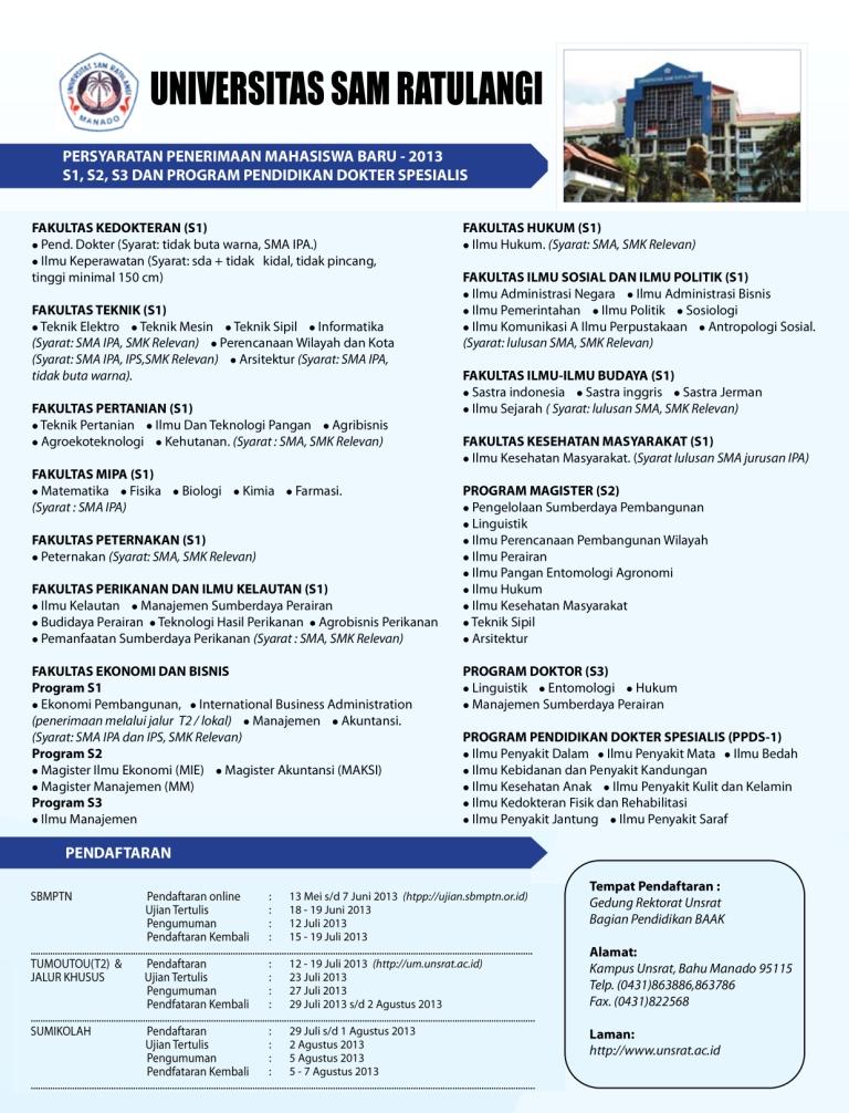 persyaratan penerimaan maba 2013 - Copy
