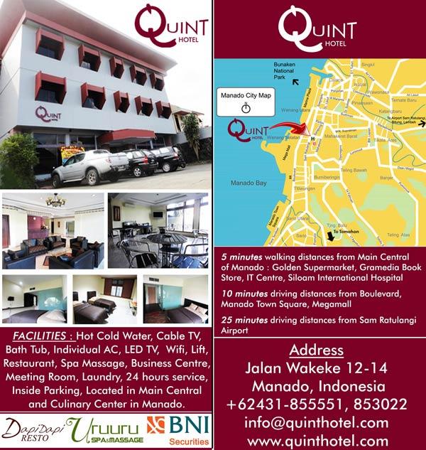 quint hotel manado Quint Hotel